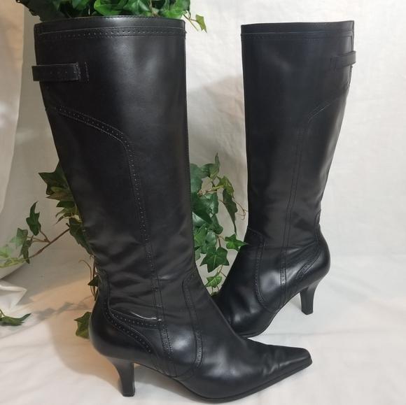 Etienne Aigner Shoes - Etienne Aigner leather boots